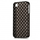 Square Style Protective Plastic Back Case for Iphone 4 / Iphone 4S - Translucent Black