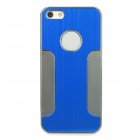 Protective Aluminum Alloy Back Case for Iphone 5 - Blue + Silver