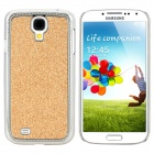 Stylish Shiny Electroplated Protective Plastic Back Case for Samsung S4 i9500 - Golden + Silver