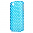 Square Style Protective Plastic Back Case for Iphone 4 / Iphone 4S - Translucent Blue