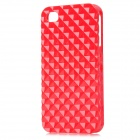 Square Style Protective Plastic Back Case for Iphone 4 / Iphone 4S - Red