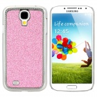 Stylish Shiny Electroplated Protective Plastic Back Case for Samsung S4 i9500 - Pink + Silver