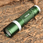 Small Sun ZY-A637 Cree XR-E Q5 180lm 3-Mode White Zooming Flashlight - Dark Green (1 x AA / 3 x AAA)