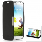 Protective PU Leather Case w/ Holder for Samsung Galaxy S4 i9500 - Black