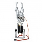 DAGU VA2 Aluminum Alloy Robot Arm Clamp w/ Two Metal Gear Motors for Arduino - Silver White + Black