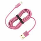 USB to 8-Pin Lightning Charging Cable for iPhone 5 - Pink (300CM)