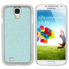 Stylish Shiny Electroplated Protective Plastic Back Case for Samsung S4 i9500 - Aquamarine + Silver