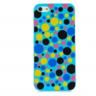 Colorful Polka Dot Style Protective Plastic Back Case for Iphone 5 - Blue