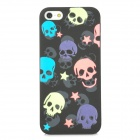Glow-in-the-Dark Skull Pattern Protective PVC Back Case for Iphone 5 - Black + Pink + Blue + Green