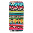 Wave Pattern Protective Frosted Plastic Back Case w/ Stand for Iphone 5 - Multicolor