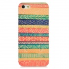 Cotton Print Style Protective Frosted Back Case w/ Stand for Iphone 5 - Multicolor