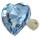 Love Heart Style Rhinestone Audio Anti-Dust Plug for Iphone / Ipad / Cell Phone - Light Blue (3.5MM)
