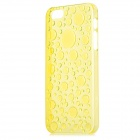 Water Drop Style Protective Plastic Back Case for Iphone 5 - Translucent Yellow