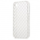 Square Style Protective Plastic Back Case for Iphone 4 / Iphone 4S - Transparent White