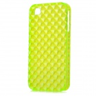 Square Style Protective Plastic Back Case for Iphone 4 / Iphone 4S - Fluorescent Green
