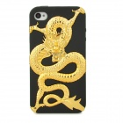 Cool Dragon Style Protective PC + TPU Back Case for iPhone 4S - Golden + Black