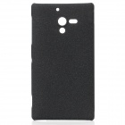 Stylish Protective Quicksand PC Back Case for Sony Xperia ZL L35h - Black