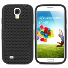 Protective Plastic Mesh & Silicone Back Case for Samsung Galaxy S4 i9500 - Black