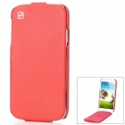 HOCO Up-Down Flip-Open Leather + PC Case for Samsung Galaxy S4 / i9500 - Red