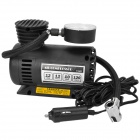 Portable Car 100PSI Air Compressor - Black (DC 12V)