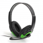 ZSBZFXB-901 High-Fidelity Wired Game Headphones for Xbox 360 - Black + Green