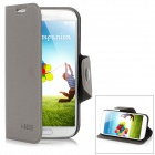 Protective PU Leather Case w/ Card Slot for Samsung Galaxy S4 i9500 - Gray