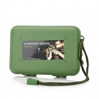ZY-1311 Crush Resistance Shockproof PP Holder Case Box w/ Strap - Army Green (S-Size)