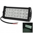 72W 4300lm 6000K 24-Epistar LED White Spot Light Car Engineering / Roof Bar Lamp - Black (DC 10~30V)