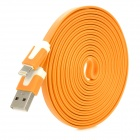 USB to 8-Pin Lightning Charging Flat Cable for iPhone 5 - Yellow (300CM)