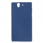 TEMEI Protective Quicksand PC Back Case for Sony Xperia Z L36h - Blue