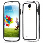 Protective TPU Bumper Frame for Samsung Galaxy S4 i9500 - Black + Transparent