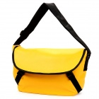 F130 Fashion Student PU One Shoulder Bag / Messenger Bag for Women - Yellow + Black
