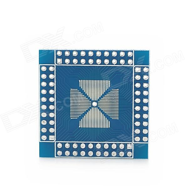 Фото Double-Side QFP / QFN / TQFP / LQFP 16-80-pin to DIP Adapter / Breakout Board Module for Arduino qfn8 to dip8 adapter mlf8 mlp8 plastronics 08qn50t43020 qfn ic programming test burn in socket 0 5mm pitch