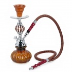 FS291 Vintage Elegant Magnetized Shisha Water Pipe Set - Coffee + Silver (Size M)