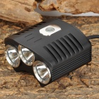 TrustFire TR-D009 3 x Cree XM-L T6 1250~1300lm 4-Mode White Bicycle Light - Black (4 x 18650)
