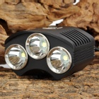 TrustFire TR-D009 1250~1300lm 4-Mode White Bicycle Light w/ 3 x Cree XM-L T6 - Black (4 x 18650)