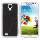Stylish Shiny Electroplated Protective Plastic Back Case for Samsung S4 i9500 - Black + Silver