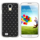 Protective Rhinestone Plastic Back Case for Samsung Galaxy S4 i9500 - Black + Silver