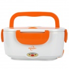 Multi-function Portable Plastic Electric Lunch Box - White + Orange + Green