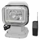 55W 4300lm 6000K White Light Car HID Search Lamp w/ Remote Control Kit - White (24V)