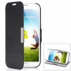Protective Squirrel Fur Pattern PU Leather Case w/ Holder for Samsung Galaxy S4 i9500 - Black