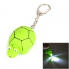 Cute Tortoise Style LED White Light Keychain - Green (3 x AG10)