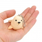 Cute Seal Style LED White Light Keychain - Beige (3 x AG10)