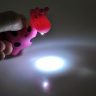 Cute Giraffe Style LED White Light Keychain - Deep Pink + Black (3 x AG10)