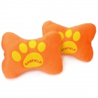 Cute Footprint Style Vehicle Car Seat Head Neck Rest Cushion Pillow - Orange + Yellow (2 PCS)
