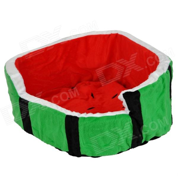 Watermelon Style PP Cotton Berber Fleece Pet Nest Bed (Size M)