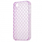 Square Style Protective Plastic Back Case for Iphone 4 / Iphone 4S - Translucent Purple