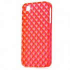 Square Style Protective Plastic Back Case for iPhone 4 / iPhone 4S - Translucent Red