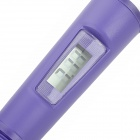 "PH-O37 Column Style 1.2"" LCD Acidometer / pH Meter - Purple + White (0.00~14.00pH / 4 x AG13)"