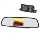 "4.3"" LCD 16:9 Car Rearview Receiver Monitor + E350 Rearview Camera w/ 7-IR LED - Black"